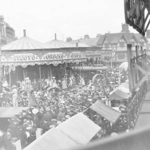 The May Fair in High Town, Hereford.