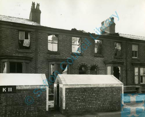 Brasenose Road, bomb damage, Blitz