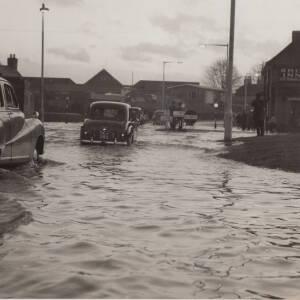 Floods in Hereford near the Ship Inn.