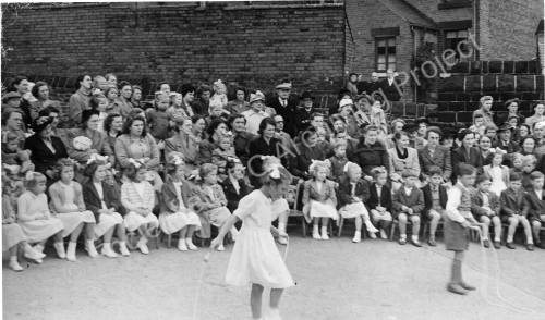 Grenoside Junior and Infant School  spectators 1950's.
