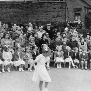 Grenoside Junior and Infant School  spectators 1950's.
