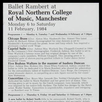 Royal Northern College of Music, Manchester, February 1984