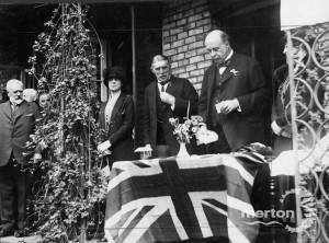 The opening of Lord Middleton of 'Raydon', London Road, Mitcham as Conservative Headquarters for the district