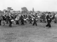 Coronation Celebrations: Procession moving across Three King's Piece, Mitcham