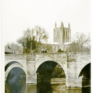 Wye Bridge and Cathedral, 1928