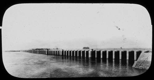 Assiout barrage in Egypt 1902