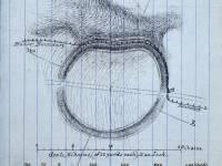 Scale diagram and description of Caesar's Camp, Wimbledon Common