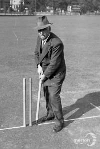 Tom Sturlivant, groundsman,  Mitcham Green