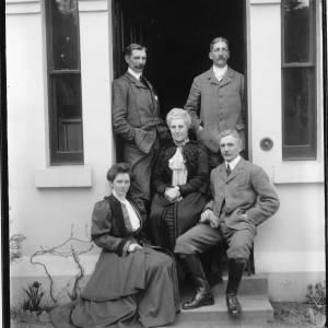 G36-035-04 Family group in doorway. Three men, two ladies.jpg