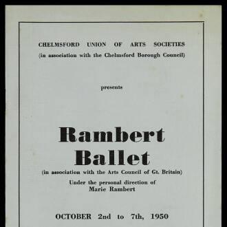 Regent Theatre, Chelmsford, October 1950
