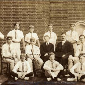 The Cricket Team, County Boys' School, Maidenhead.