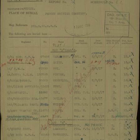 F Lambert Grave Registration Document