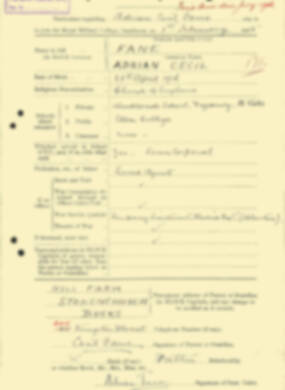 RMC Form 18A Personal Detail Sheets Aug 1935 Intake - page 72
