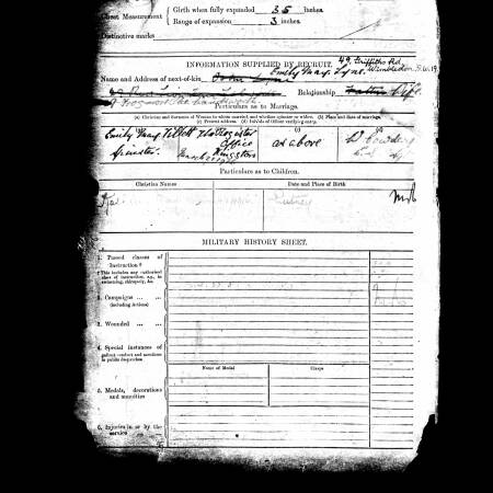 Army record of marriage