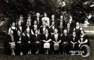 Wimbledon County School for Girls: Miss Borthwick, Staff and Prefects