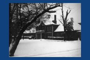 Wilson Hospital, Cranmer Road, after fall of snow