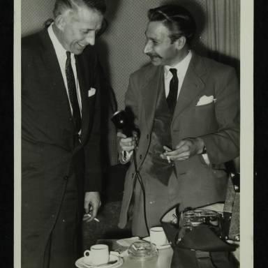 Stan Kenton (left)