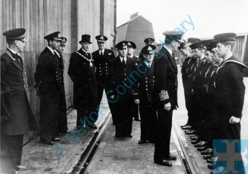 Admiral Sir Max Horton inspecting Sea Cadets