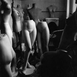 "095 - Shop dummies in store room ""Ladies in Retirement"""