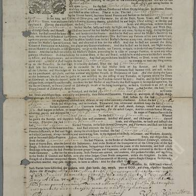 Indenture between Henry Hamiltone, Chirurgeon Apothecary Burgess of Edinburgh, and Charles Allan, son of Robert Allan, merchant in Leith