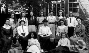 Wimbledon County School for Girls: Miss Batho, Teachers and Pupils