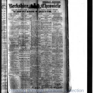 Berkshire Chronicle Reading 10-1918