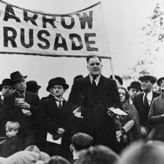 David Riley speaking at Jarrow Crusade