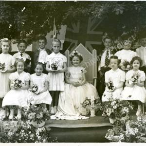 1955. 45th May Queen Jennifer Smith (a)