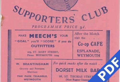 19500504 Weymouth Away