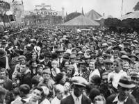 Mitcham Fair opening ceremony: View of great crowd
