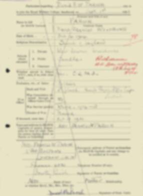 RMC Form 18A Personal Detail Sheets Feb & Sept 1933 Intake - page 262