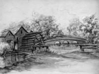 Morden Mill and Mitcham Bridge.