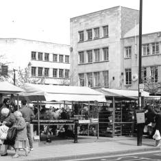 A busy day in the Market Place