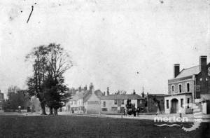 London Road, Mitcham: Showing the Cricketers Inn