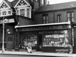 Merton High Street, No 103:  A.G. Falkner, Corn Merchants