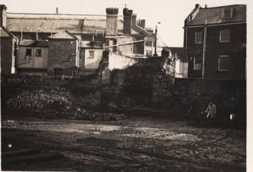 Wall & bastion, St. John's School ground, 1935, Exeter