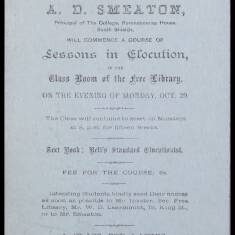 A D Smeaton, Lessons in Elocution