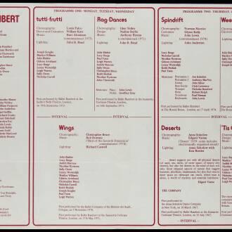 Sherman Theatre, Cardiff, June 1974