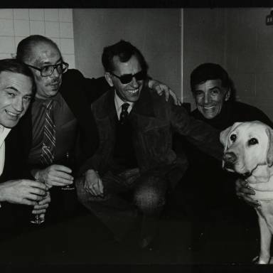 Frank Strazzeri, George Duvivier, Harold Jennings and Louie Bellson (left to right)