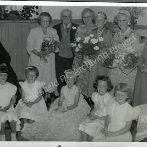 1959. 49th May Queen Rosemary Wilks (l)