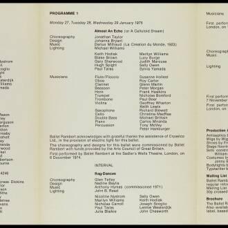 University of Warwick Arts Centre,  January–February 1975