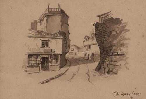 Old Quay Gate Exon, c1860, Exeter