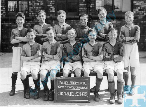 Balliol Senior School, Bootle Schools League Champions, 1931-32