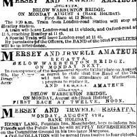 1873, Mersey and Irwell Regatta at Warburton