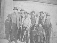 Baron House, Mitcham: Group of workers
