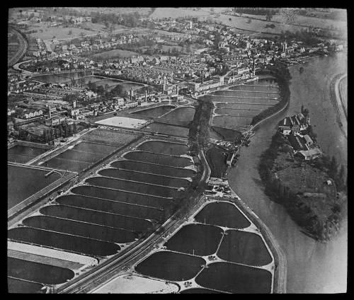 Aerial view of Hampton works