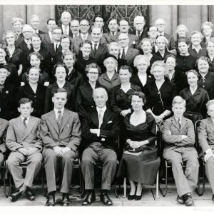 Three Choirs Festival, Hereford Chorus Contingent, Conductor Dr Melville Cook, Worcester, 1957