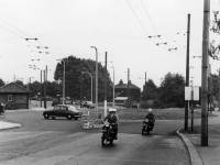 Motorcyclists near the roundabout on Croydon Road, Mitcham