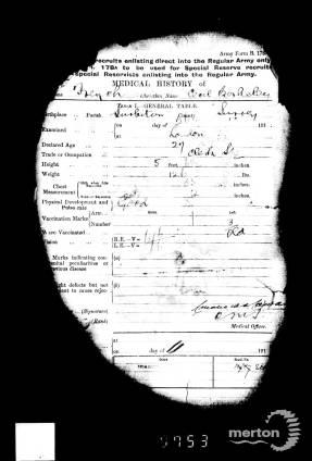 Service Record - Cecil Berkeley French