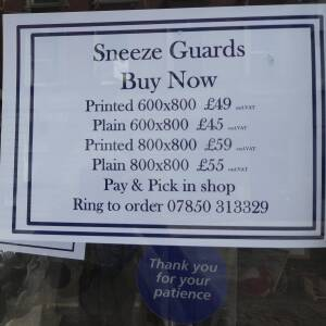 Sneeze guards for sale